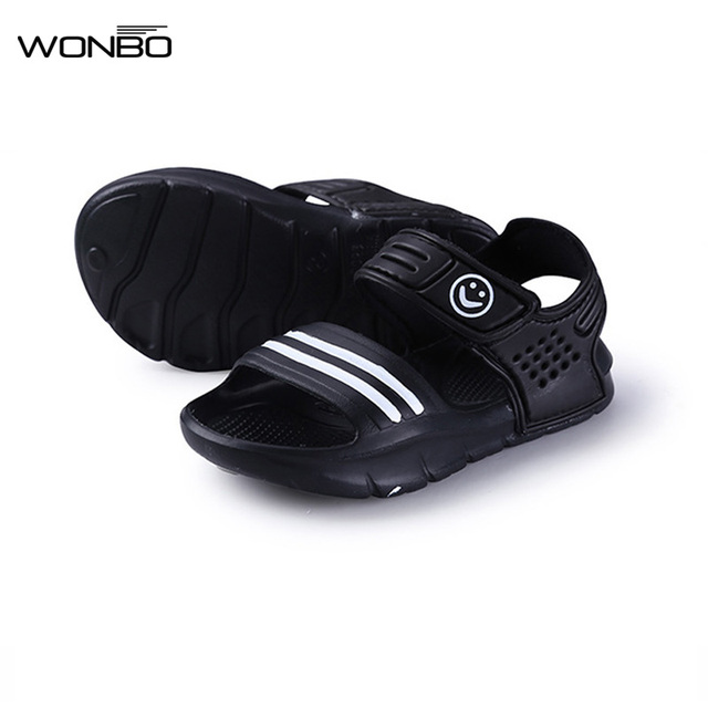 ילדי קיץ 2018 סנדלים להחליק עמיד ללבוש עמיד קטן ילד מזדמן סנדלי בנות בני נעלי ילד קיץ סנדלי