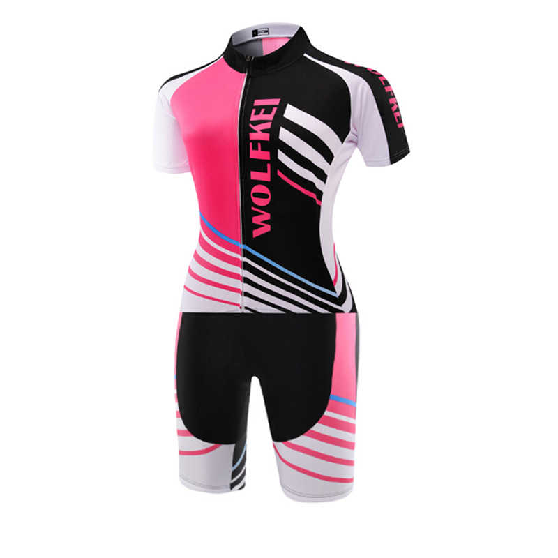 Baru Panas Wolfkei Skinsuit Bersepeda Pakaian One Piece Bodysuit Ropa Ciclismo MTB Sepeda Pakaian Wanita Outdoor Wear # SK00020