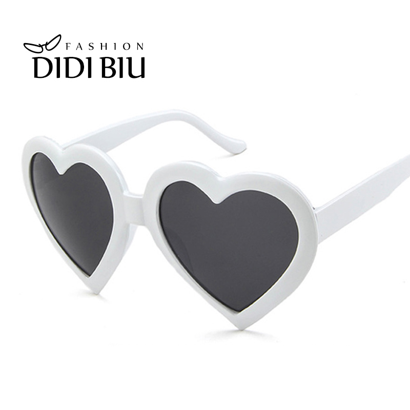 1f88e4561ab98 Red Heart Shaped Sunglasses Women Big Frame White Sun Glasses Ladies Brand  Lovely Heart Eyewear Hip hop Rock Clear Shades HL1051-in Sunglasses from  Apparel ...
