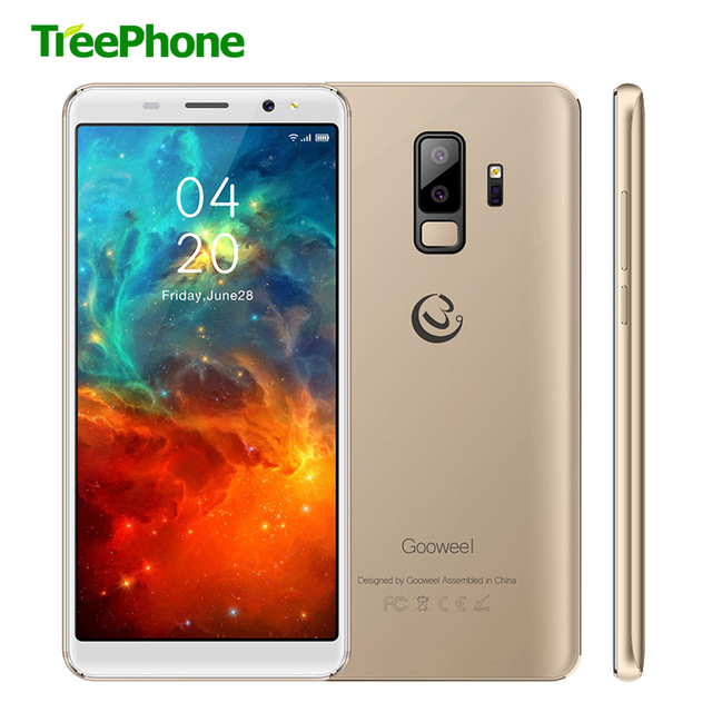 Gooweel S9 Face Identification Smartphone Dual Rear Camera Mobile phone 5.72''18:9 Display Quad core Cell Phone GPS 3G free gift