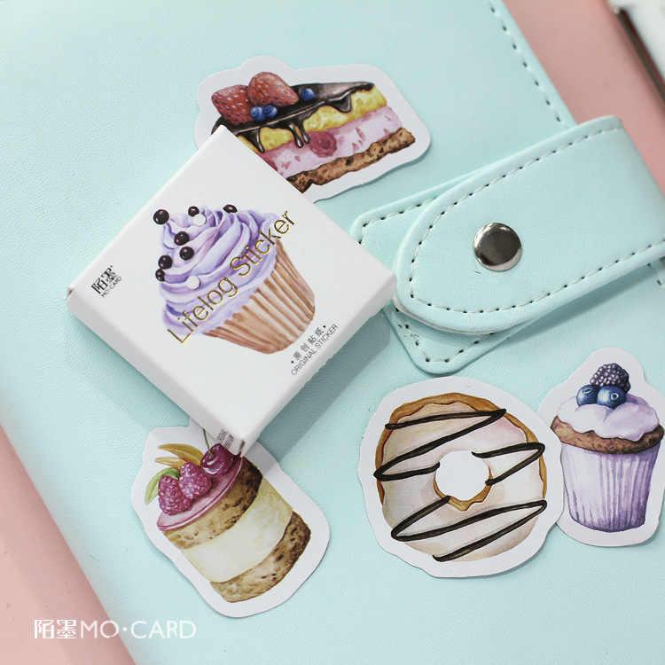 45 Pcs/lot Baru Selamat Ulang Tahun Kue Mini Kertas Stiker Dekorasi DIY Ablum Diary Scrapbooking Stiker Label Kawaii Stationery