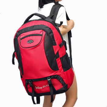 0cc15a091 Mujer al aire libre de gran capacidad de viaje bolsas mochila impermeable de  lona equipaje bolsa grande BOLSA DE FIN DE SEMANA hombre del rosa secreto de  ...