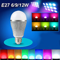 Dimmable 2.4G wireless MiLight rgb Led Bulb GU10 E27 E14 Led Lamp 4W 5W 6W 9W RGBW RGBWW Smart 16 million color spot night light