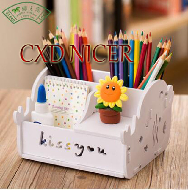 Long Time To Creative Fashion Students Pen Holder Mobile Phone Desktop New Storage Box Pencil Holder Office Stationery Dd966