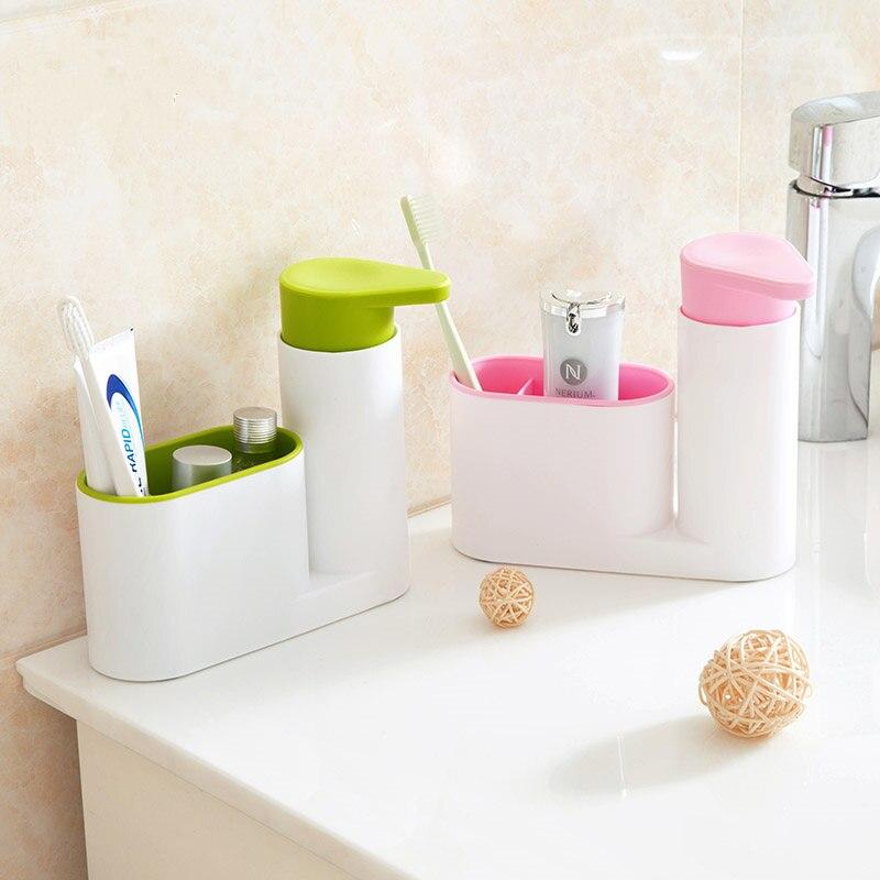 Multifunción accesorios de baño set cepillo de dientes titular con botellas de C