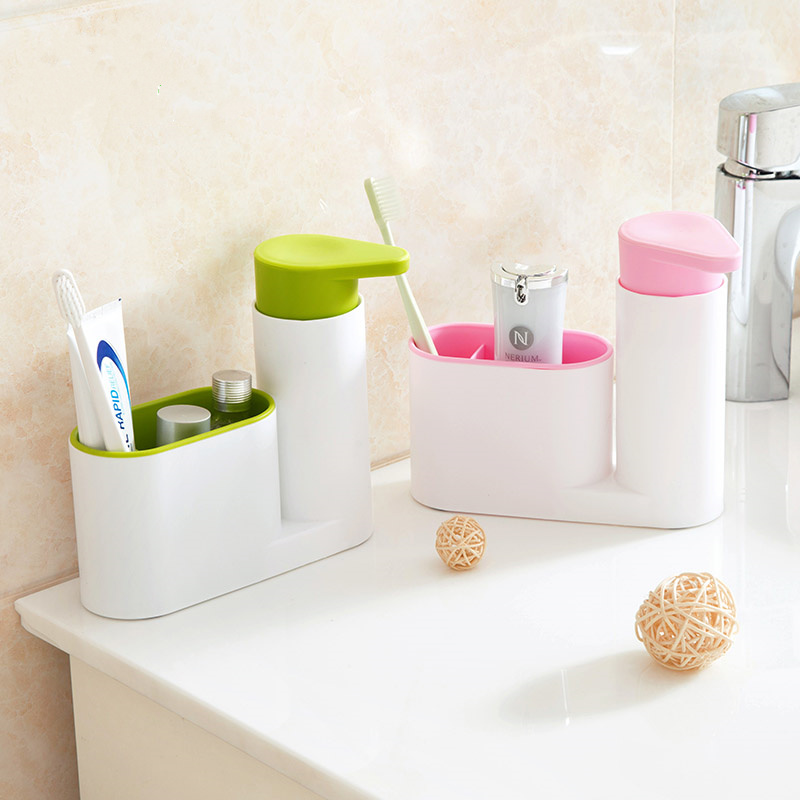 Multifunction bathroom accessories set toothbrush holder with Shampoo bottles Lotion Shampoo Bath Container bathroom products