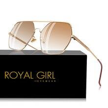 6b053a545225b Real chica plana de mujer de diseñador gafas de sol Vintage gran tamaño  gafas de sol UV400 gradiente gafas ss503