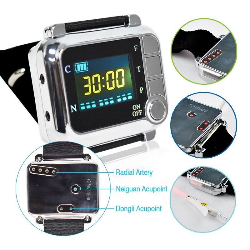 Soins de santé Laser 650nm Physiothérapie Poignet Diode LLLT Pour Le Diabète Hypertension Diabétique Montre Faible Niveau Thérapie Au Laser Dispositif