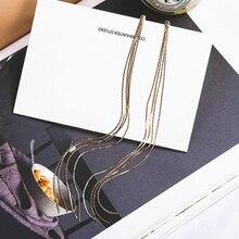 SUKI Korean Jewelry Personality Temperament Metal Tassel Earrings Bridal Earring Oorbellen For Women Long