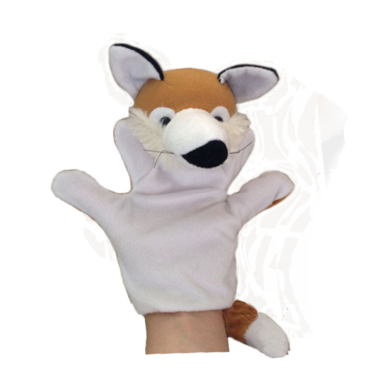 Jnj My Store >> plush fox animal toy hand puppet doll 5pcs/lot, stuffed ...