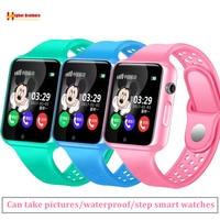 Smart GPS Location SOS Call Remote Monitor Camera Wristwatch Tracker Kids Child Students Bluetooth Music SIM TF Card Phone Watch
