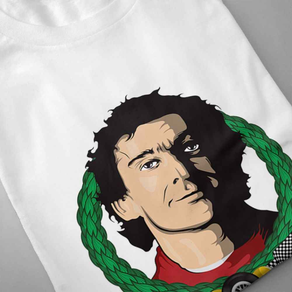 Уникальный дизайн F1 Айртон Сенна футболка Повседневное человека уличная поклонников автомобилей Футболка Camiseta шею большой Размеры Tee