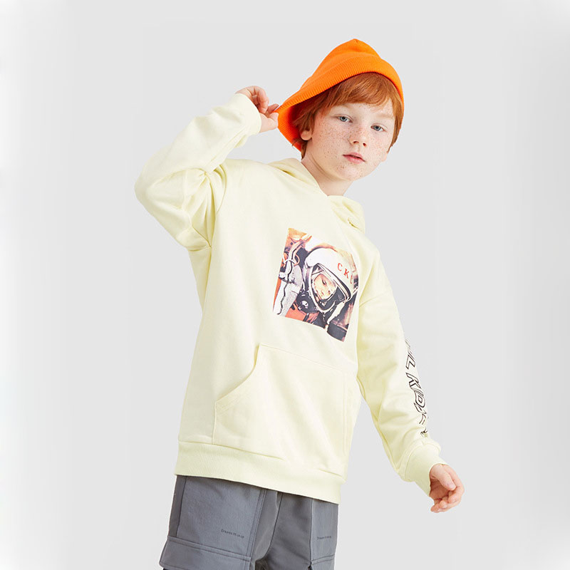 Ouyang&Ivan2019 Autumn Sweatshirt New 4-15 Years Old Boy Space Astronaut Thin Hooded Student Hoodie Street Style(China)