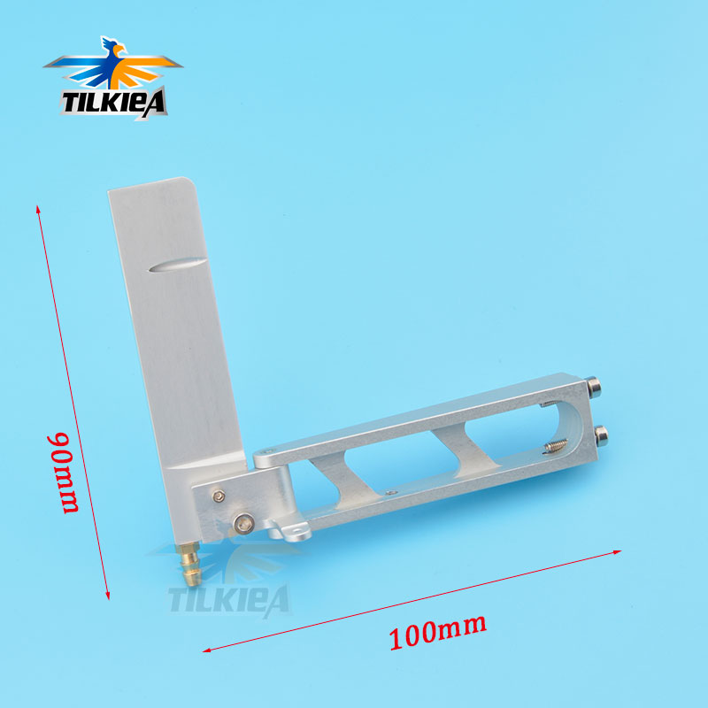 CNC Aluminum Rudder Electric Boat 100x90mm Water Pickup Rudder  for RC MONO-1 O Boat VOREX Good Quality