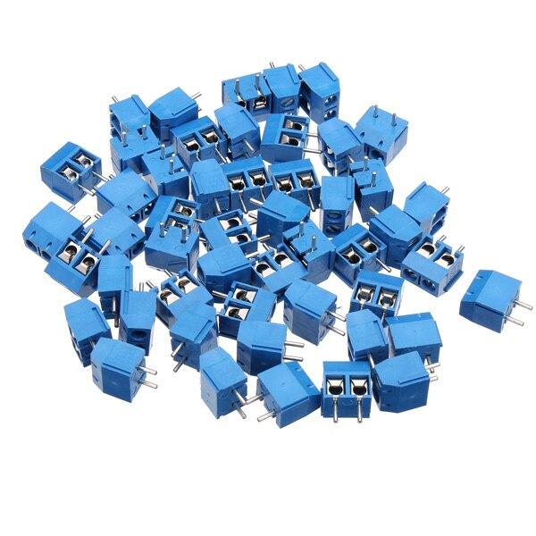 50pcs 2pins Plug-in Screw Printed Circuit Board Connector Block Terminals50pcs 2pins Plug-in Screw Printed Circuit Board Connector Block Terminals