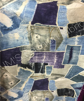 Customized 120cm Width Denim Cowboy Lycra Elastic Chiffon Satin Silk Cotton Gauze Cloth Fabric Shirt Coat