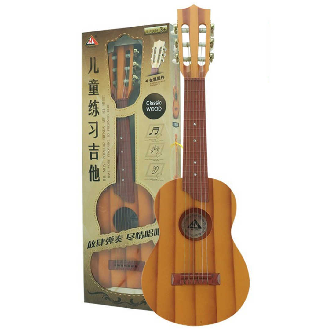 חדש באיכות גבוהה 138 Seriess סימולציה 6 מיתרי Ukulele צעצועי מוקדם חינוכי מוסיקה מכשיר