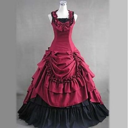 Costumes d'halloween pour femmes adulte sud belle costume rouge robe victorienne robe de bal gothique lolita robe grande taille personnalisé - 2