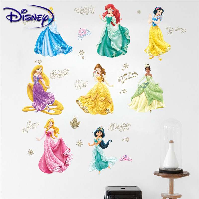 Disney Princess Sticker Children Room Background Wall Decoration Sticker Room Living Room Sticker