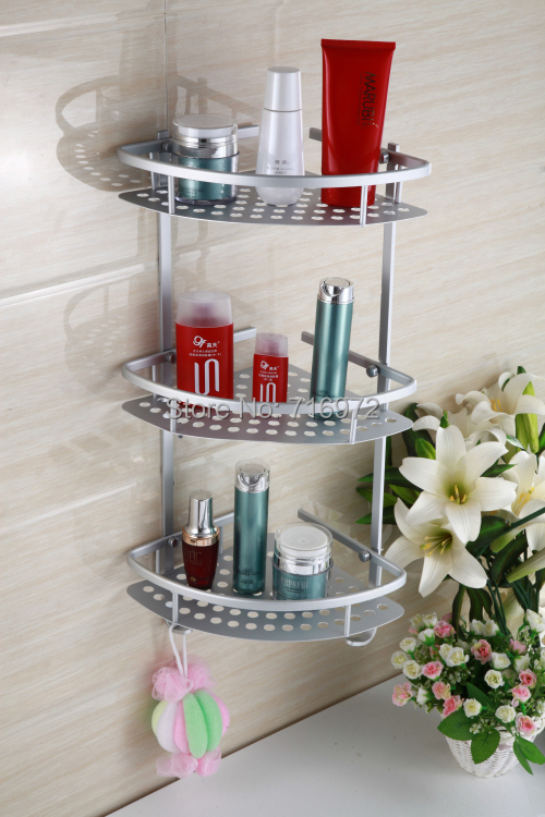 Top Quality Free Shipping Wall Mounted Corner Shelf In The Bathroom Shelves For Bathroom