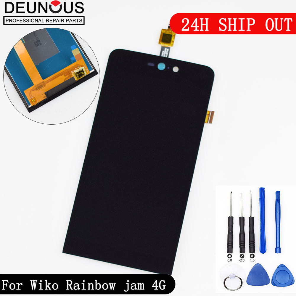 New for Wiko Rainbow jam 4G LCD Display + Touch Screen Digitizer Replacement For Wiko Rainbow jam 4G LCD Screen + ToolsNew for Wiko Rainbow jam 4G LCD Display + Touch Screen Digitizer Replacement For Wiko Rainbow jam 4G LCD Screen + Tools