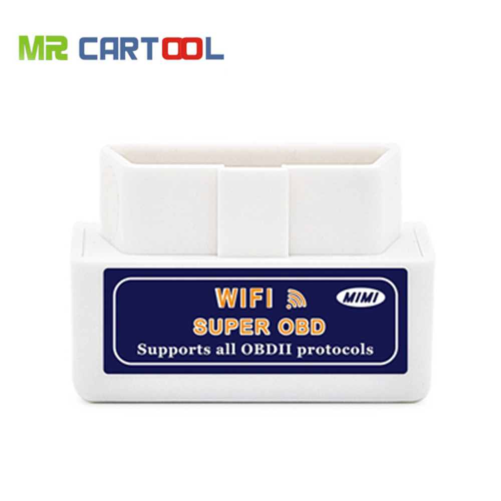 Prix pour Mini WIFI ELM327 V1.5 OBD2 Auto Scanner Pour Android et IOS Système ELM327 Wifi Support Tous OBDII Protocoles Livraison Gratuite