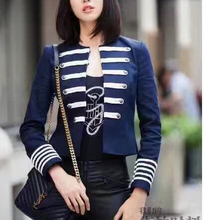 Autumn and winter women 2016 double ribbon decoration slim all-match coat