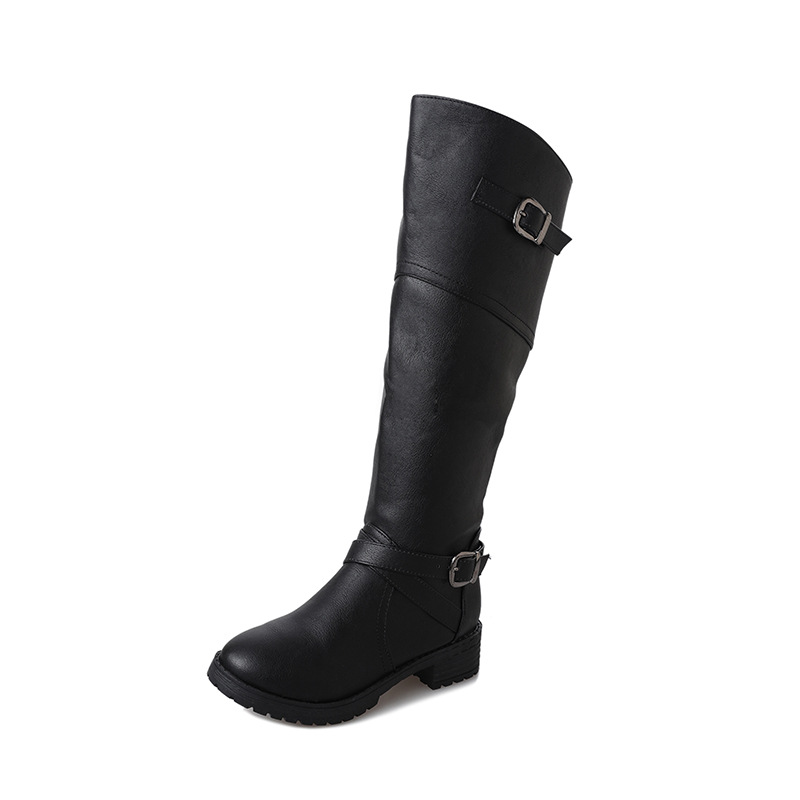 2018 autumn and winter flat with new womens boots side zipper fashion wild female round head high boots black ljj 10312018 autumn and winter flat with new womens boots side zipper fashion wild female round head high boots black ljj 1031