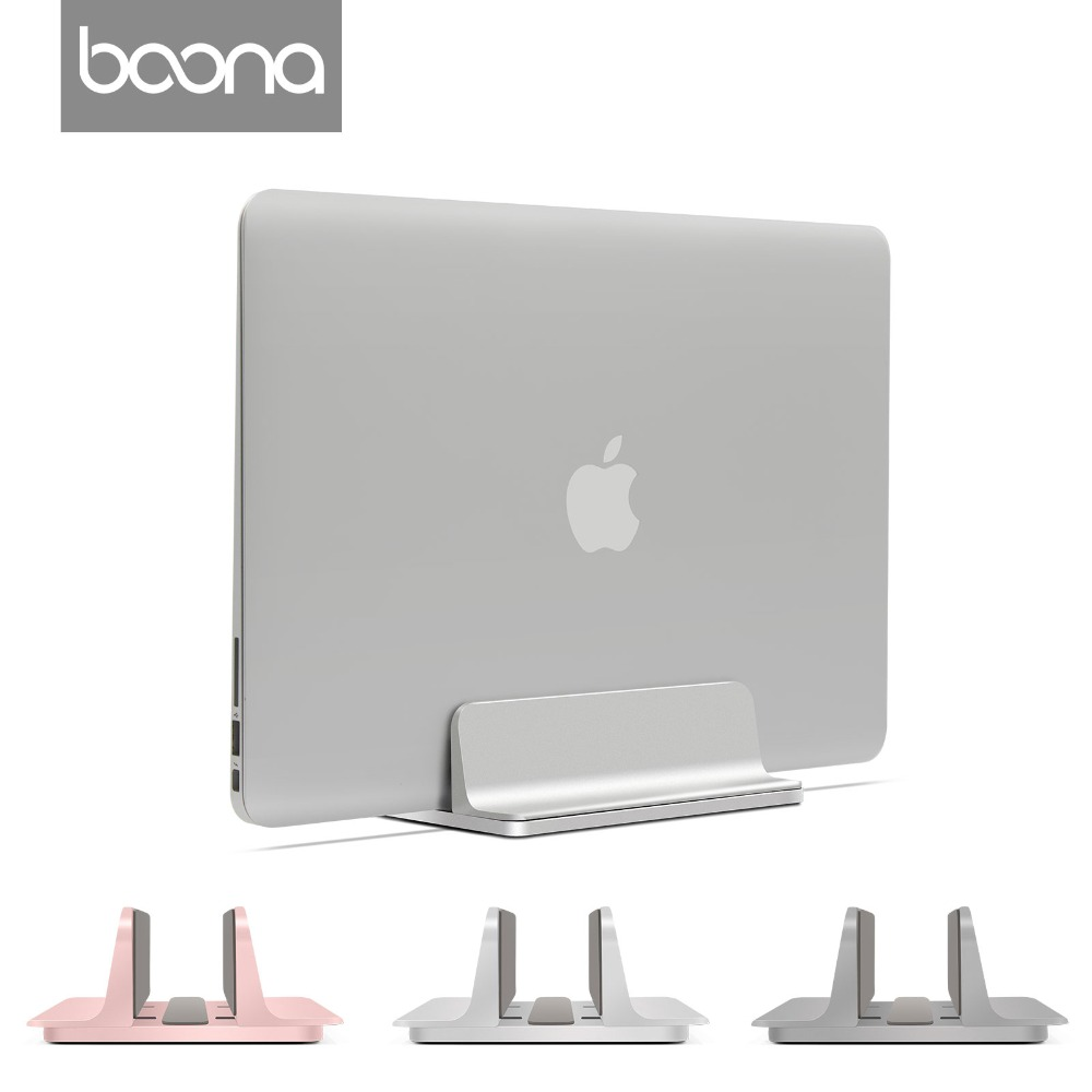 Boona Universal Metal Aluminium Alloy Unfoldable Stand Desk Holder Vertical Support for Laptop Stand for Tablet Stand for iPad