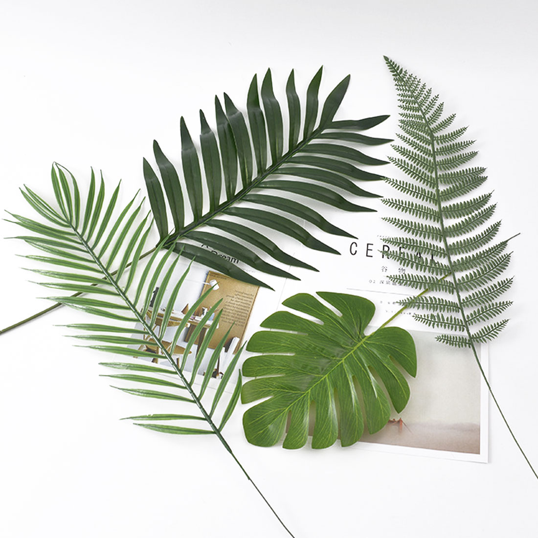 65 Cm Photo Booth Tools 10 Pcslot Pine Leaves Green Leaves