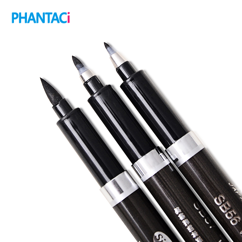 3 pcs/lot Chinese Calligraphy Brush Pen for Signature Drawing Art Supplies Stationery School Supply Papelaria Caligrafia