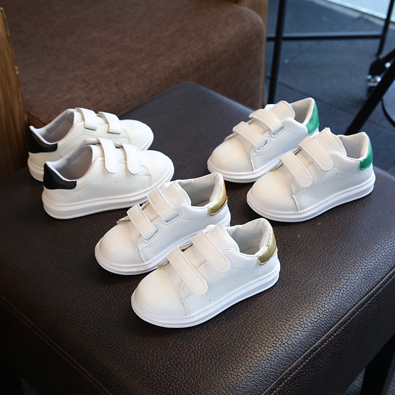 Shoes for Children Boys Girls Breath Fashion Casual White Skate High Top Sneaker with Flash Light Spring Autumn Leather Comfort