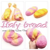 Squishy Slow Rising Scented Jumbo Italy Bread Squishy Toys Wrist Pad PU Kawaii Squishies Gift