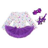 赤ちゃんの女の子ボールガウンドレスでヘッドバンド靴用誕生日パーティーポルカドットフリルプリンセスnb女の子チュチュドレス服nb-24m