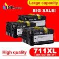 INKARENA 3 комплекта полностью чернильные картриджи для HP 711 XL 711XL для HP711 для HP711XL струйный картридж Designjet T120 T520 принтер