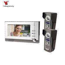 Yobang Security 7″ Monitor IR Outdoor Camera Home Video Intercom Doorphone video monitoring apartment building video intercom