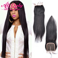 Brazilian Straight Hair Lace Closure Middle/Free/Three Part 4x4 Lace Closure Straight Human Hair Closure Brazilian Lace Closure