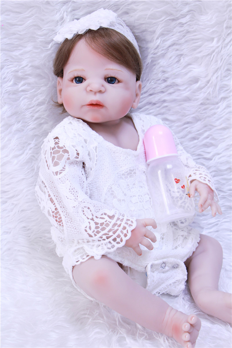 23 NPK Silicone Reborn Baby Girl Full Body Vinyl Dolls Touch Real Baby Dolls Lifelike Real Hair New bebe dolls kids Playmates23 NPK Silicone Reborn Baby Girl Full Body Vinyl Dolls Touch Real Baby Dolls Lifelike Real Hair New bebe dolls kids Playmates