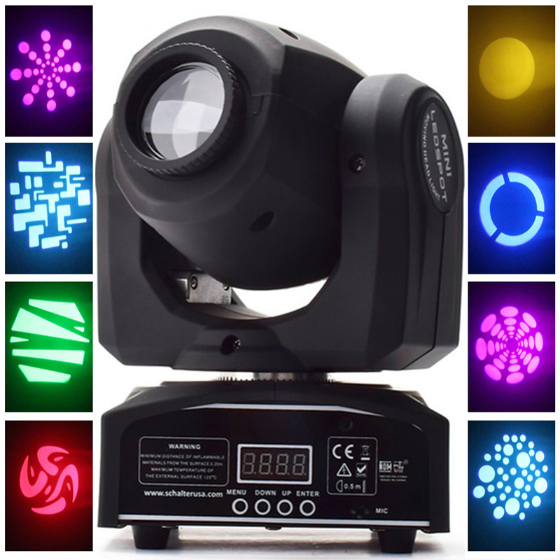 HOT Eyourlife LED Inno Pocket Spot Mini Moving Head Light 30W DMX dj 8 gobos effect stage lights christmas decorations for home new 30w spot gobo moving head light dmx controller led stage lighting disco dj wedding christmas decorations stage light par led
