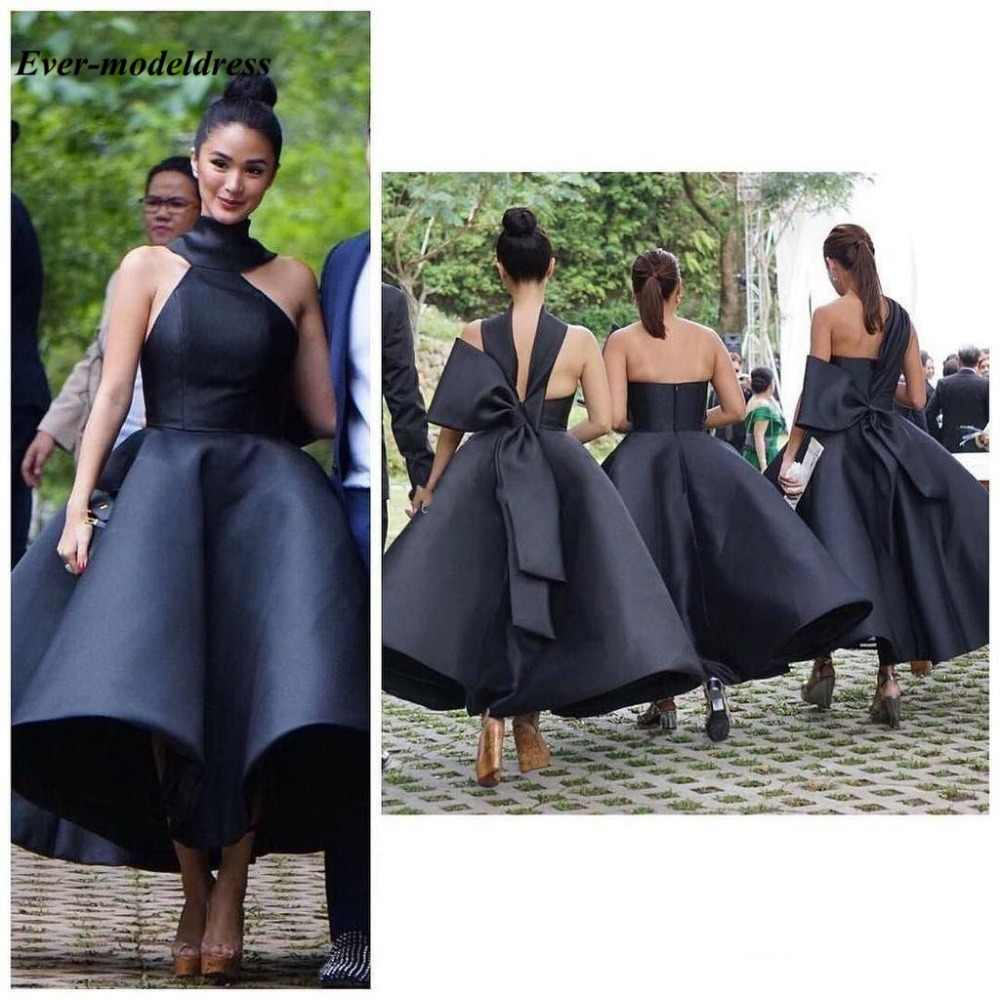 Lovely Ankle Length Bridesmaid Dresses 2020 Backless Big Bow Short