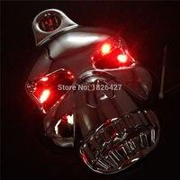 Chrome LED Skull Horn Carburetor Cover For Harley Davidson Softail Dyna Sportster Glide Big Twin Electra