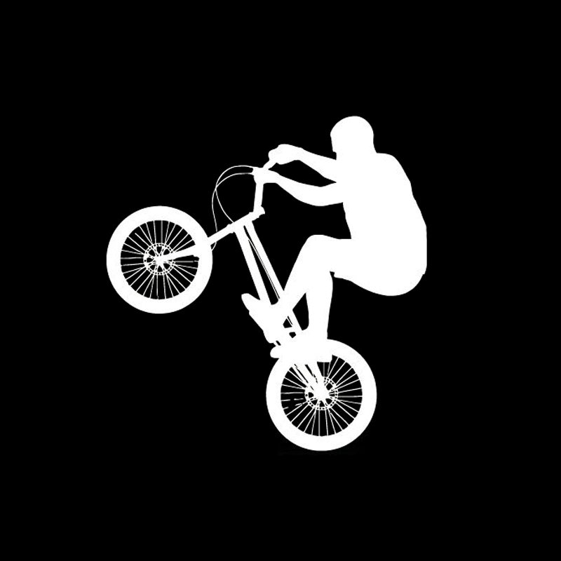 11 3cm 11 8cm Fashion Bicycle Games Extreme Sports Car Sticker