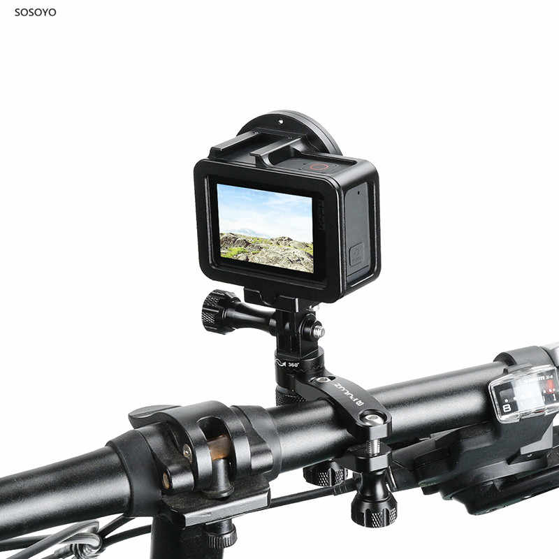 Алюминиевый велосипедный зажим вращение на 360 градусов велосипедный адаптер для руля крепление и винт для экшн-Камеры GoPro Hero 7 6 5 DJI OSMO