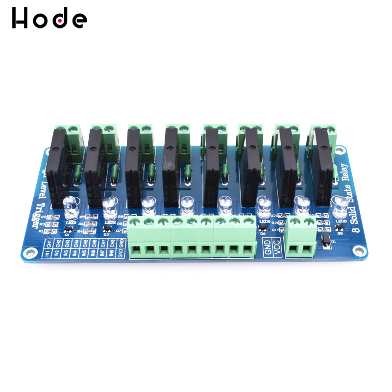 250V 2A 8 Channel <font><b>OMRON</b></font> <font><b>SSR</b></font> <font><b>G3MB</b></font>-<font><b>202P</b></font> Solid State Relay Module For Arduino NG4S image