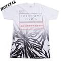 2016 Fashion Casual Tops Tees Twenty One Pilots Palm Fade Print White T-Shirt Cotton O Neck Men's T-shirt Summer Men Clothing