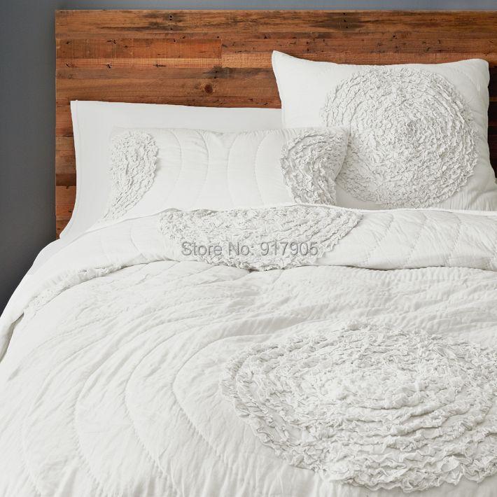 Modern White Patchwork Quilt Chinese Brief Summer 2017 New Handmade Children Home Bedspread