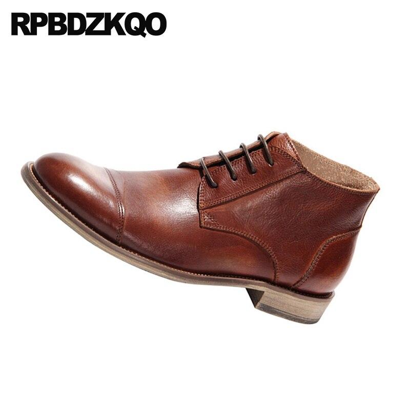 Noiva Designer Queda Marrom Couro Homens Até Completa cinza marrom Negócios Rendas Vestido Sapatos Formal Handmade Curto Preto Preto De Grain Os Botas Oxford qF8qSH