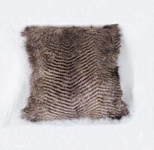 2017 JinDian Moda Funda de Almohada 50*50 cm Faux Fur winter warm Cuadrado Fundas de Almohada Decorativa Hecha Punto Rayada Hogar