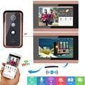 7 дюймов проводной Беспроводной Wi-Fi видео-дверной звонок Домофон Системы с 720 P IR-CUT HD 1000TVL проводной Камера