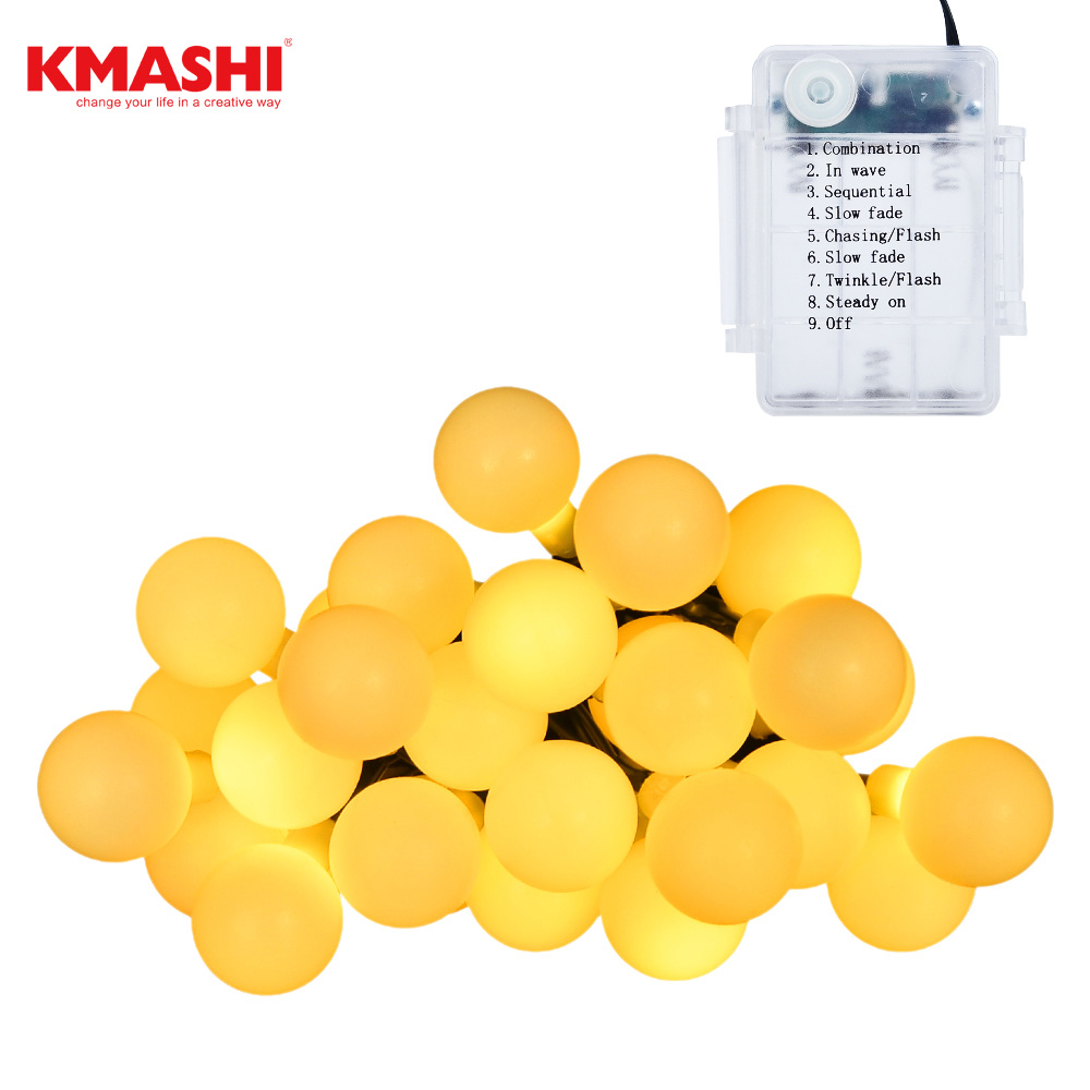 2018 Kmashi Holiday Lighting 6M 30 Ball LED New Year Party Festival Wedding Party Light for Home Garden Lawn Party Decorations